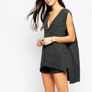 Free People Swing Vest Lamb Wool Size Medium